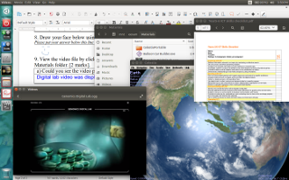 Post-paper exam with multimedia, reference files and software tools